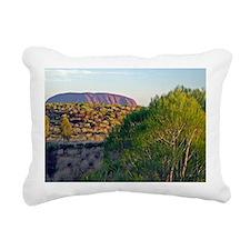 Uluru distant CROPPED HI Rectangular Canvas Pillow