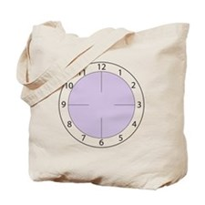 Clock PurpleB Tote Bag