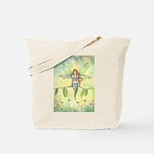 Green Garden Fairy Fantasy Art Tote Bag