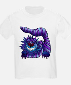 Mad Cheshire Cat Outline Kids T-Shirt
