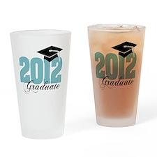 2012 graduate color aqua Drinking Glass