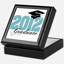 2012 graduate color aqua Keepsake Box