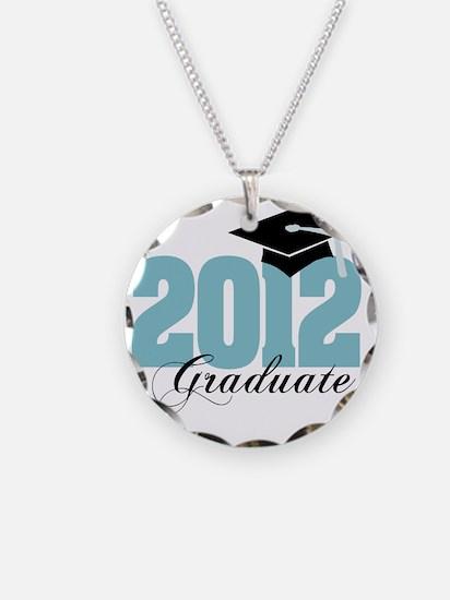 2012 graduate color aqua Necklace Circle Charm