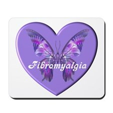 FIBRO BUTTERFLY HEART Mousepad