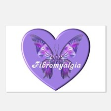FIBRO BUTTERFLY HEART Postcards (Package of 8)