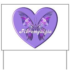 FIBRO BUTTERFLY HEART Yard Sign