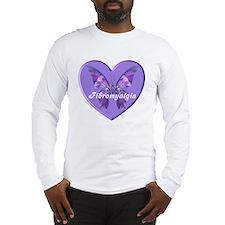 FIBRO BUTTERFLY HEART Long Sleeve T-Shirt