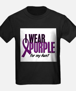 I Wear Purple For My Aunt 10 T-Shirt