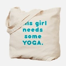 dark girl needs yoga Tote Bag