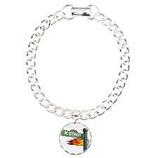 K STREET Welcome Reverse Charm Bracelet, One Charm