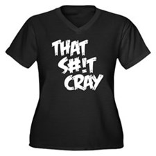 cray2 Women's Plus Size Dark V-Neck T-Shirt
