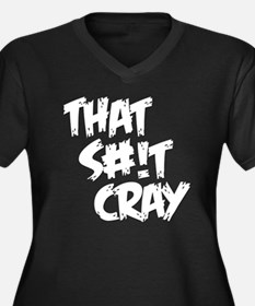 cray2 Women's Plus Size Dark V-Neck T-Shirt