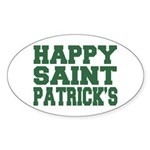 St. Patrick's Day Oval Sticker