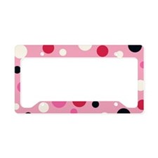 PillowC Polka Pink License Plate Holder