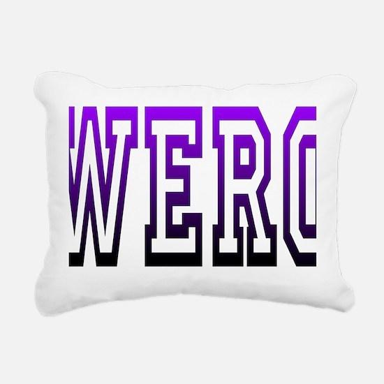 werq Rectangular Canvas Pillow