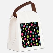 Twin Polka BlaPink Canvas Lunch Bag