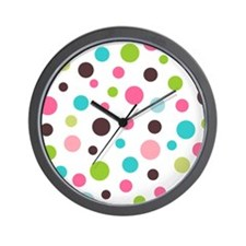 Shower Polka White Wall Clock