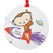 Monkey rocket Ornament