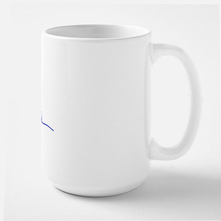 barack obama signature with prez sym Large Mug