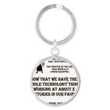WOEFULL.gif Round Keychain