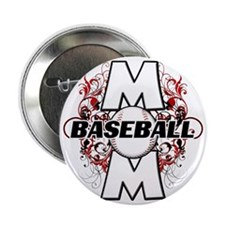 "Baseball Mom (cross) copy 2.25"" Button"
