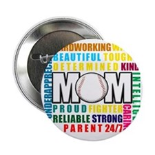 "What is a Baseball Mom copy 2.25"" Button"