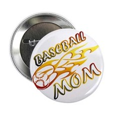 "Baseball Mom (flame) copy 2.25"" Button"