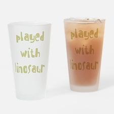 playedwithdinosaurs_new_black Drinking Glass