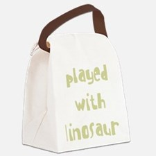 playedwithdinosaurs_new_black Canvas Lunch Bag