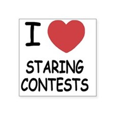 "STARING_CONTESTS Square Sticker 3"" x 3"""