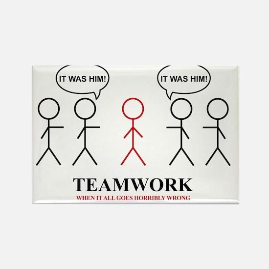 teamwork Rectangle Magnet