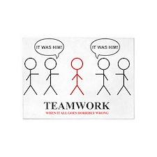 teamwork 5'x7'Area Rug