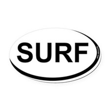 surf oval 1 Oval Car Magnet