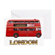 Red Bus-London Greeting Card