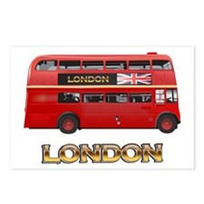 Red Bus-London Postcards (Package of 8)