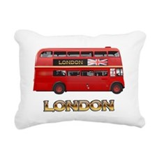 Red Bus-London Rectangular Canvas Pillow