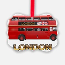 Red Bus-London Ornament