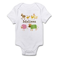 Customized Farm Animals Infant Bodysuit