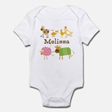 Customized Farm Animals Infant Bodysuit