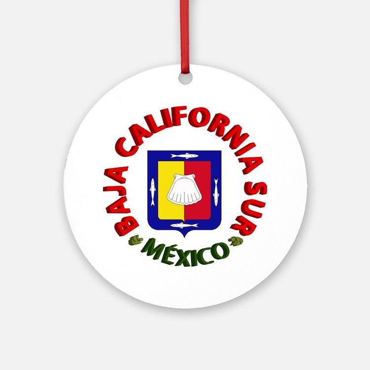 Baja California Sur Ornament (Round)