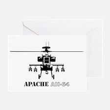 AH-64D Apache logbow redux front Bla Greeting Card