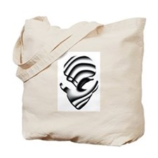 The Black and White Alien Tote Bag