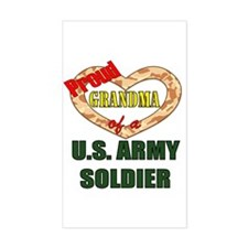 Proud Army Grandma Rectangle Decal