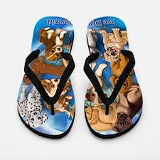 Dogs_Rule_16x20 Flip Flops