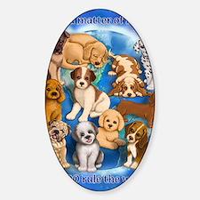 Dogs_Rule_16x20 Sticker (Oval)