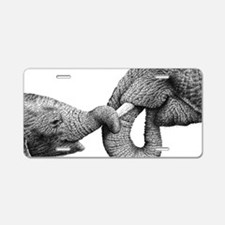Holding Tight (12x20) Car M Aluminum License Plate