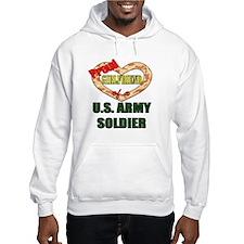 Proud Army Girlfriend Jumper Hoody