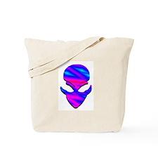 Alien Pink N Blue Tote Bag