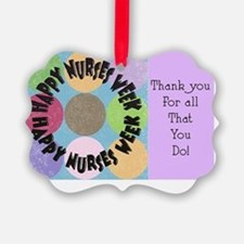 happy nurses week big polka dots Ornament