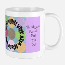 happy nurses week big polka dots Mug